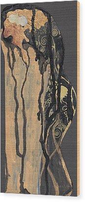 Wood Print featuring the painting Gustav Klimt's Tears by Maya Manolova