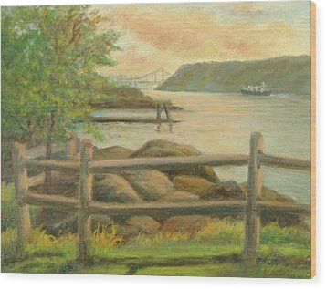 Gwb From Hastings Wood Print by Phyllis Tarlow