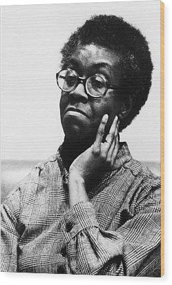 Gwendolyn Brooks 1917-2000, American Wood Print by Everett