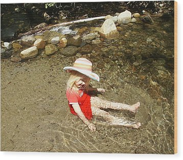 Wood Print featuring the photograph Gwenyn At Galena Creek On Mt Rose by Dan Whittemore