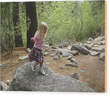 Wood Print featuring the photograph Gwenyn On Mt. Rose by Dan Whittemore