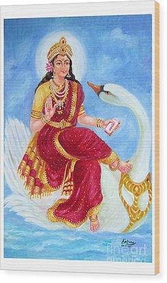 Gyatri Devi Wood Print by Kalpana Talpade Ranadive