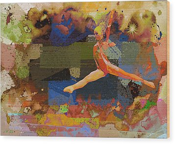 Gymnast Girl Wood Print
