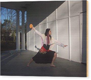 Gypsy Dance Wood Print by Judith Desrosiers