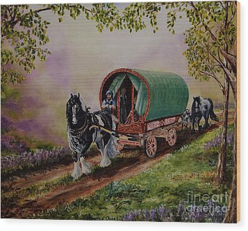 Gypsy Road Wood Print