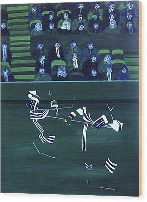H W Wood Print by Ken Yackel