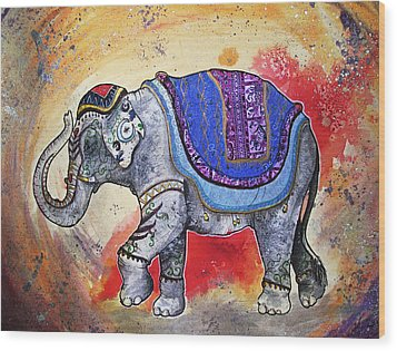 Haathi  Wood Print by Sydney Gregory