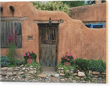 Hacienda Santa Fe Wood Print