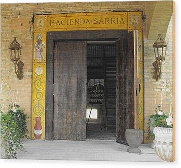 Hacienda Sarria Wood Print