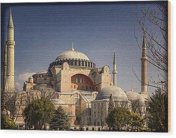 Hagia Sophia Wood Print by Joan Carroll