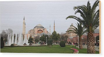 Hagia Sophia Wood Print by Niyazi Ugur Genca