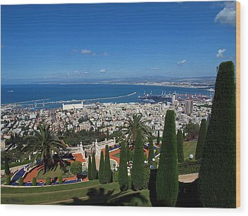 Haifa Bay 2 Wood Print