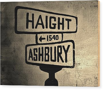 Haight Ashbury Wood Print by Dany Lison
