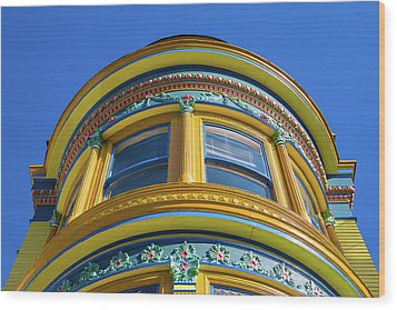 Haight Ashbury Painted Victorian Wood Print