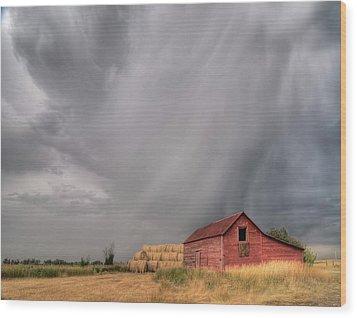 Hail Shaft And Montana Barn Wood Print