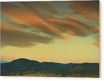 Wood Print featuring the photograph Hailing The Sky by John De Bord