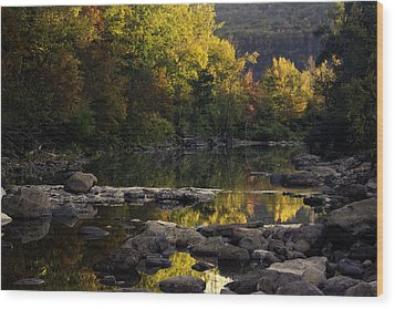 Hailstone Sunrise Fall Color 2012 Wood Print by Michael Dougherty