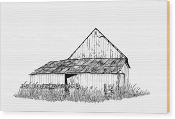 Haines Barn Wood Print by Virginia McLaren