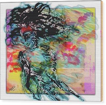 Hair Raiser Wood Print by Monroe Snook