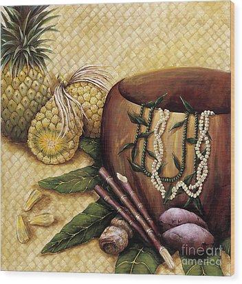 Hala Kahiki Wood Print by Sandra Blazel - Printscapes