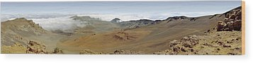Haleakala Crater Panorama Wood Print by Peter J Sucy