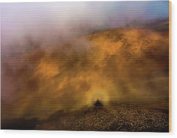Wood Print featuring the photograph Haleakala Halo by M G Whittingham