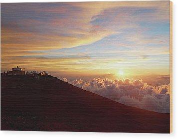 Haleakala Observatory Wood Print by Francesco Emanuele Carucci