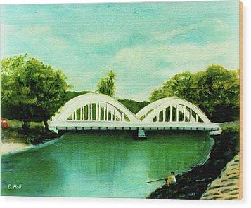 Haleiwa Bridge North Shore Oahu Hawaii #95 Wood Print by Donald k Hall
