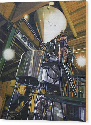 Hales Ales  Composition In Secondary Color Wood Print by Gregg Hinlicky
