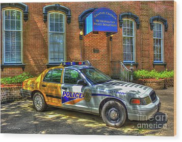 Wood Print featuring the photograph Half And Half What Is It Manna Savannah Georgia Police Art by Reid Callaway
