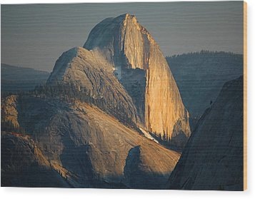 Half Dome At Sunset - Yosemite Wood Print