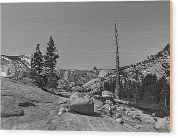 Half Dome IIi Visit Www.angeliniphoto.com For More Wood Print by Mary Angelini