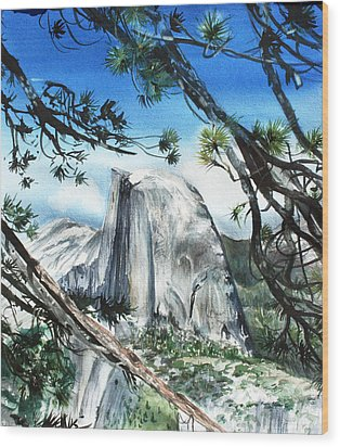Half Dome In The Late Afternoon Wood Print by Kate Peper