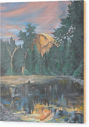 Half Dome Sunset Wood Print by Travis Day