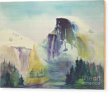Half Dome Yosemite Wood Print by Maryann Schigur