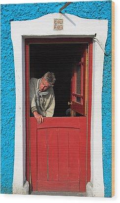 Half Door Wood Print by Aidan Moran