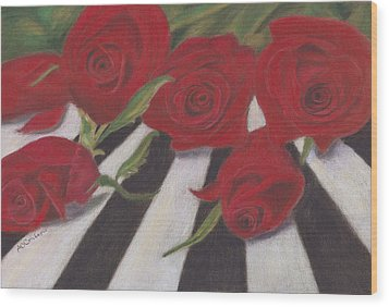 Wood Print featuring the painting Half Dozen Red by Arlene Crafton