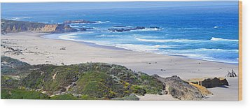 Half Moon Bay Wood Print by Holly Blunkall