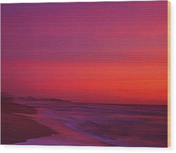 Half Moon Bay Sunset Wood Print by Vicky Brago-Mitchell