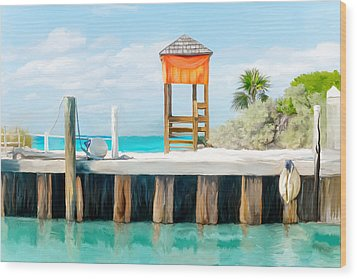 Half Moon Cay Wood Print