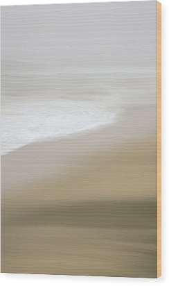 Wood Print featuring the photograph Half Moon Bay - Impressions by Francesco Emanuele Carucci