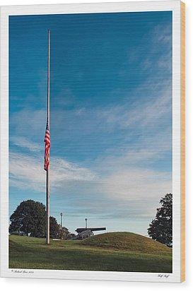 Wood Print featuring the photograph Half Staff by Richard Bean