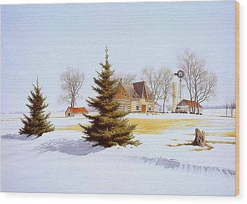Halfway Into January Wood Print by Conrad Mieschke
