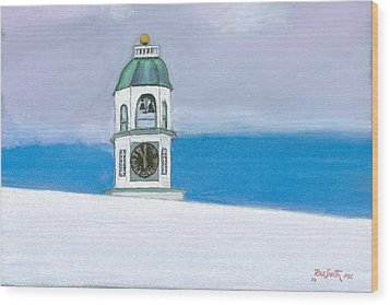 Halifax Old Town Clock Wood Print by Rae  Smith PSC