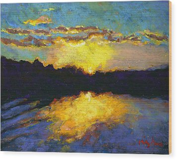 Halifax Sunrise II Wood Print by Hillary Gross
