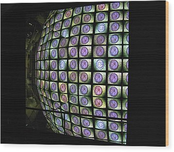 Wood Print featuring the photograph Hall Of Mirrors Kaleidoscope by Menega Sabidussi