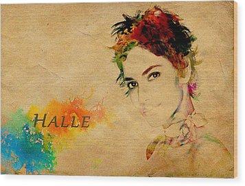 Halle Berry  Wood Print