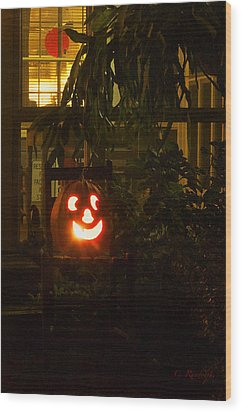 Halloween Beacon Wood Print by Cheri Randolph