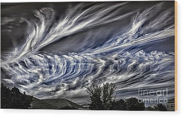 Halloween Clouds Wood Print by Walt Foegelle