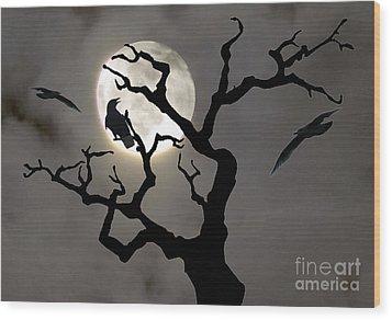 Halloween Wood Print by Jim Wright
